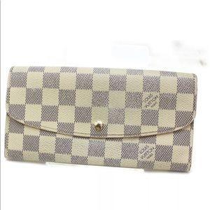 Louis Vuitton Long Wallet Emilie Damier Azur